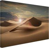 Zandduinen in een woestijn Canvas 180x120 - XXL cm - Foto print op Canvas schilderij (Wanddecoratie)