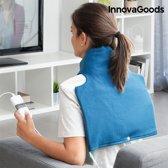 InnovaGoods Electrische Pad voor Nek en Schouders 40 x 40 cm 60W Blauw