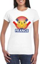 Wit Frankrijk supporter kampioen shirt dames 2XL