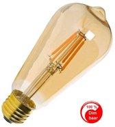 E27 Vintage ST64 Led lamp 4w Gold-warmwit Dimbaar