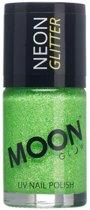 Moonglow© Groene nagellak met fosforescerende glitters - Schmink