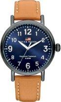 River Woods RW420014 Sacramento horloge Heren - Bruin - Leer 42 mm