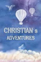 Christian's Adventures: Softcover Personalized Keepsake Journal, Custom Diary, Writing Notebook with Lined Pages