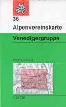 DAV Alpenvereinskarte 36 Venedigergruppe 1 : 25 000 Wegmarkierungen / Skirouten