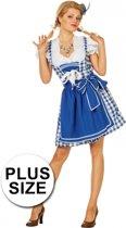 Oktoberfest jurk sexy blauw 44 (2xl)