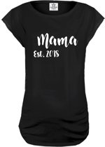 Your Wishes Zwangerschaps-T-shirt Mama - zwart - M