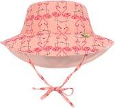 Lässig Splash & Fun ronde hoed. Flamingo, 0-6 mnd.