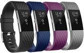 SVH Company Siliconen bandjes - Fitbit Charge 2 - 4-pack - Large