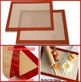 Hittebestendige bakmat | Siliconen + fiberglas | 250 graden celcius | 295X420 | bakpapier | herbruikbaar | Koken en bakken | non-stick bakmat