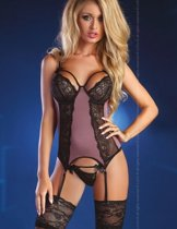 Livco Corsetti lingerie set bustier S/M - paars