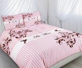Dekbedovertrek Luxxo Katoen 240x200/220 - Be Mine roze