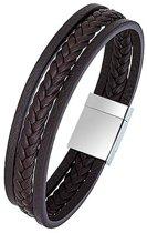 All Blacks 682128 bruin leren armband 21 cm