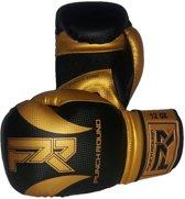 Punch Round Bokshandschoenen SLAM Mat Carbon Zwart Goud 14 OZ Bokshandschoenen