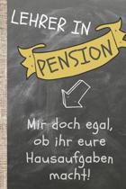 Lehrer in Pension