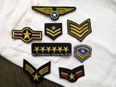 Military / Airsoft / Leger Strijk embleem / Stof en Strijk Applicatie / Patch Set / Strijk Patch / Militaire emblemen patch set (8)