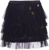 Mim-pi Meisjes Rok - Zwart met goud - Maat 134