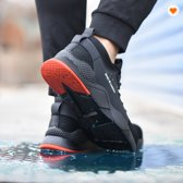 M.O.H.E. Safety Sneakers - Veiligheidsschoen - Stalen neus - Flexibel - Ademend - Licht gewicht - Anti slip – Spijker bestendig - Zwart/Rood - Maten 42