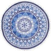 Seahorse Mandala - Roundie - 150 cm - Blue