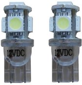 W5W-T10 Xenon Look 5 SMD LED 6000k - wit