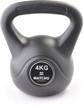 Matchu Sports - Kettlebell - 4 kg - Zwart