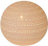 Lucide GLOBI - Tafellamp - Ø 20,5 cm - E14 - Wit