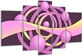 Glasschilderij Art | Paars, Geel | 170x100cm 5Luik | Foto print op Glas |  F005573