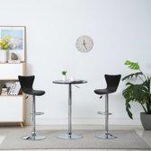 Barstoel draaibaar 40x47x105 cm kunstleer zwart 2 st