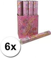 6 bruiloft confetti shooters 40 cm - party popper / confetti kanon