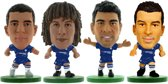 Soccerstarz voetbalpoppetjes CHELSEA 4-pack ⚽ Eden Hazard ⚽ David Luiz ⚽ Diego Costa ⚽ Luis Pedro