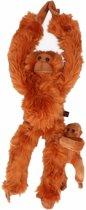 Pluche Orang Oetan met baby knuffel 44 cm