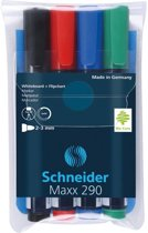 Boardmarker Schneider Maxx 290 ronde punt etui à 4 stuks