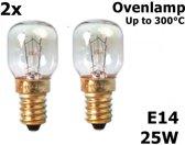 2 Stuks Ovenlamp 240V 25W E14 300 C 25x55mm CA059