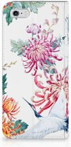 Flip case iPhone 6/6s Bird Flowers