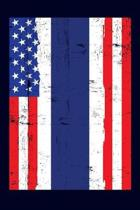 Thai American Flag Notebook: 6x9 college lined notebook to write in with the flags of Thailand and the United States