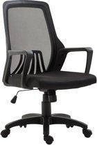 Clp Bureaustoel CLEVER, ergonomische executive chair, mangers stoel, directiestoel, vergaderstoel, in hoogte verstelbare draaistoel met kantelfunctie, mesh bekleding - zwart/zwart