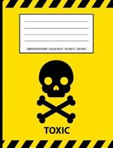 Toxic Warning Periodic Table Chemistry Composition Notebook