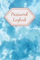 Password Logbook: Internet Password Keeper Organizer Large Print Two Entries Per Page