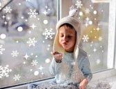 Raamsticker - sneeuwvlokken set (99-delig) statisch hechtend - raamdecoratie kerst