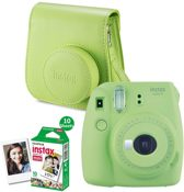 Fuji Instax mini 9 Lime Green + enkelp film (10 foto's)+case