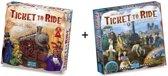 Spel - Ticket to Ride USA met uitbreiding Map Collection - France / Old West - Combi Deal