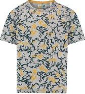 NOP Jongens T-shirt met all over print Anthony - Grey Melange - Maat 152