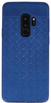Samsung Galaxy S9 Plus Blauw   Geweven Backcover Hoesje    WN™