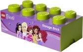 Lego Friends Opbergbox - Brick 8 - 25 x 50 x 18 cm - 12 l - Lime groen