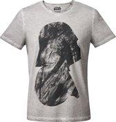 Star-Wars-T-shirt-met-korte-mouw-grijs - Maat XXL