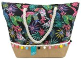 Luna Cove Tropical Flowers Strandtas Shopper Beach Bag Trendy Tas