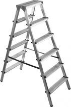 DRABEST dubbelzijdige trapladder, 2x7 treden