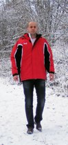 KWD Coachjas Fresco - Rood/zwart/wit - Maat M
