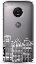 Casetastic Softcover Motorola Moto G5 - Amsterdam Canal Houses White