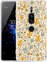 Xperia XZ2 Premium Hoesje Doodle Flower Pattern