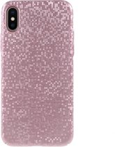 Teleplus iPhone X Prism Hard Cover Case Rose Gold
